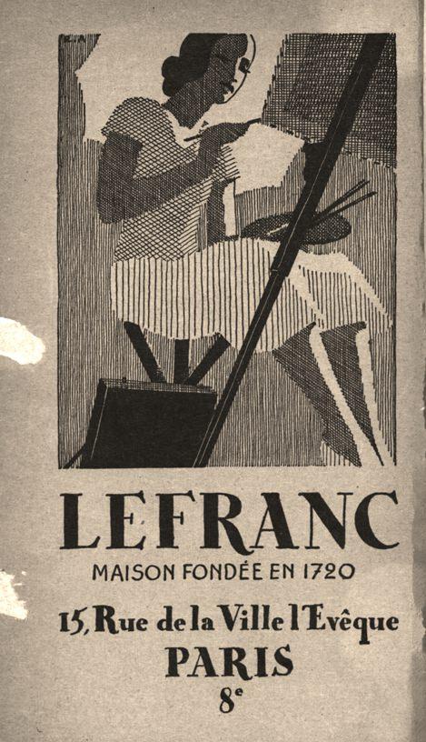 Lefranc - 1937 - publicité, Salon